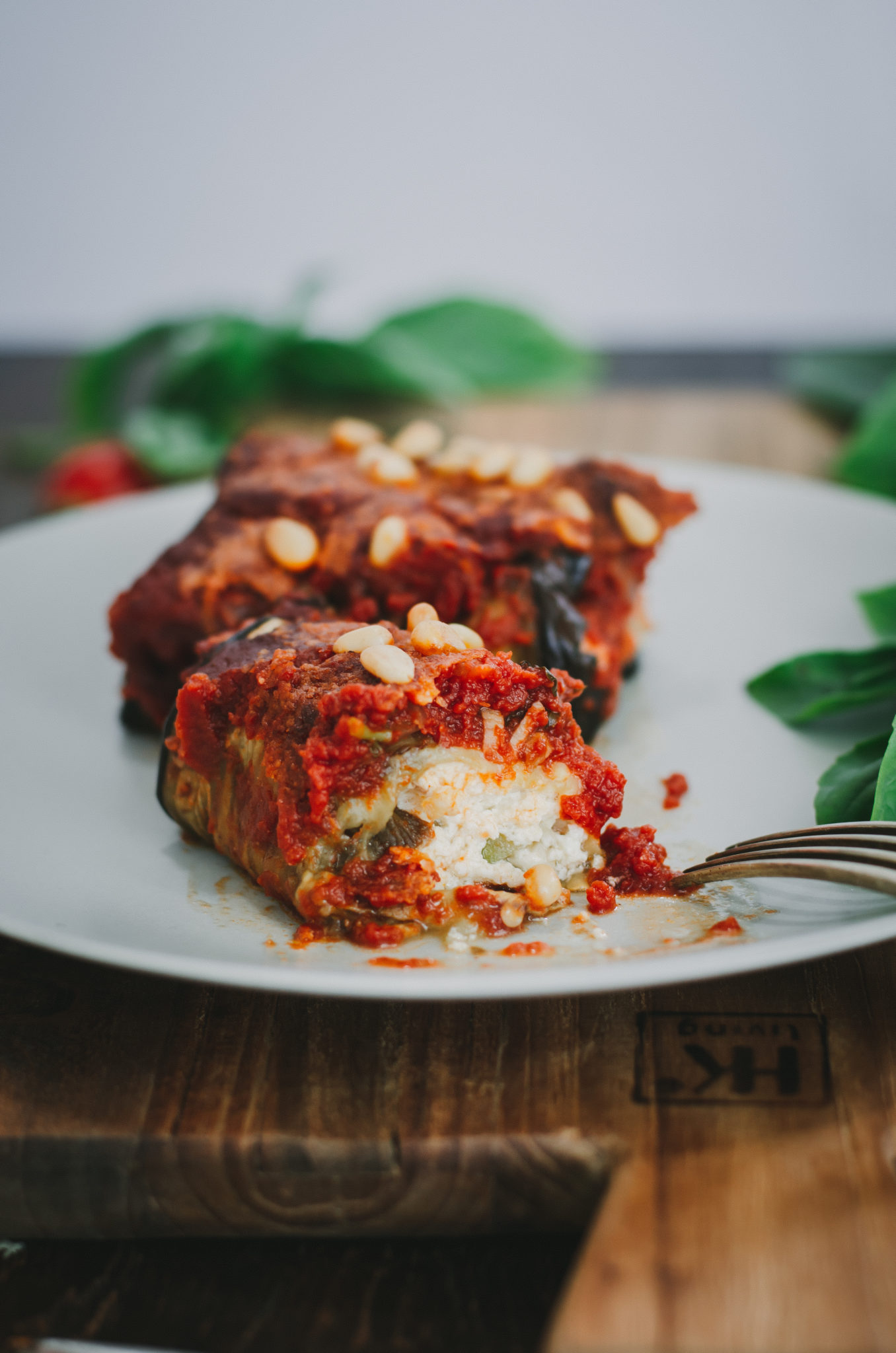 Cannelloni d'aubergine à la ricotta