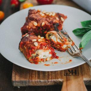 Cannelloni aubergine ricotta