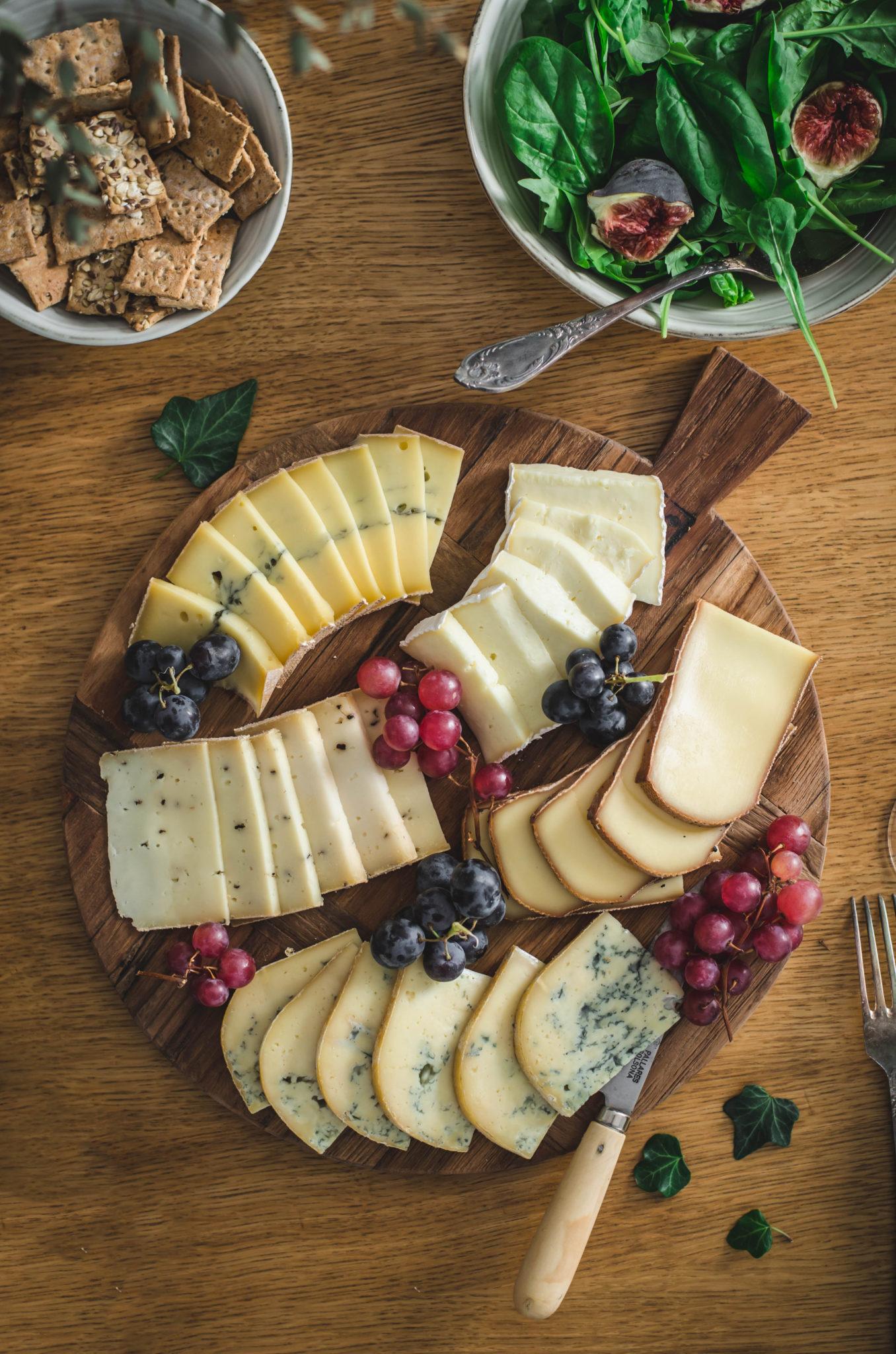 Plateau sélection de fromages