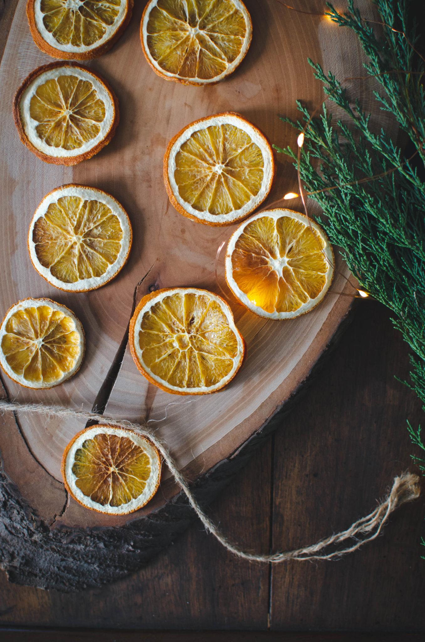 Rondelles d'orange en déco pour Noël