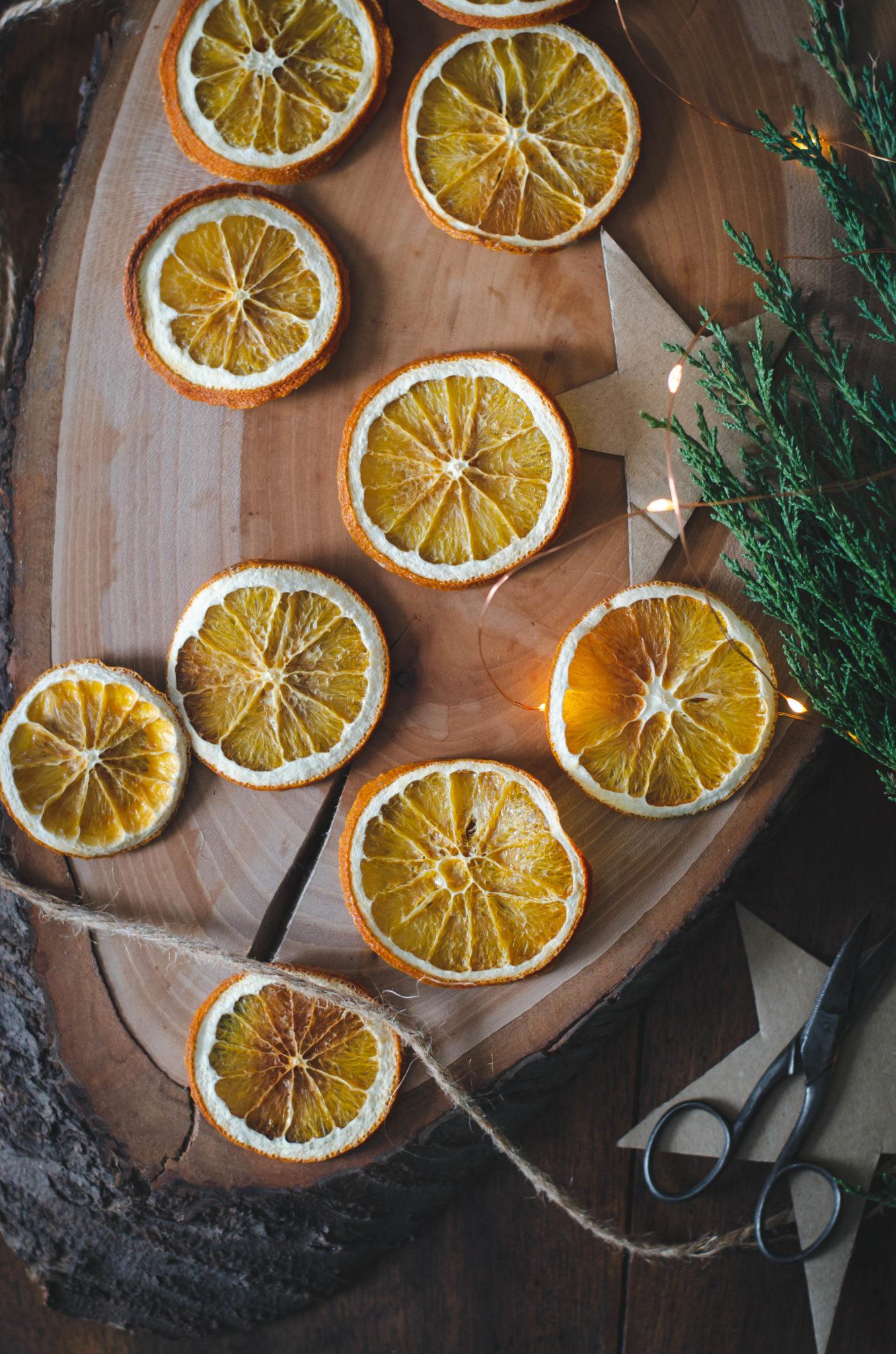 Oranges séchées au four en déco ou à manger
