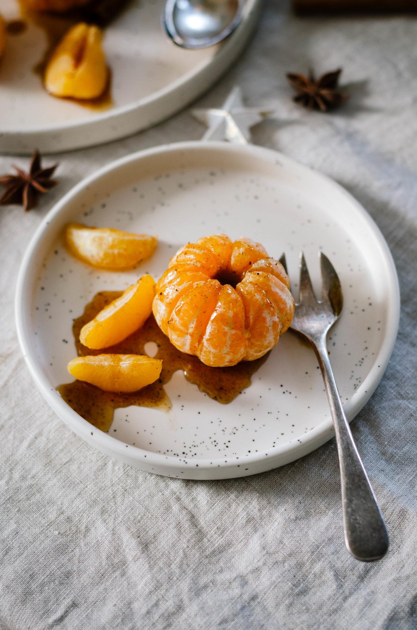 Mandarines miel et 4 épices