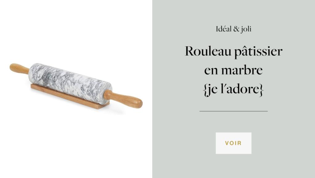 rouleau pâtissier en marbre