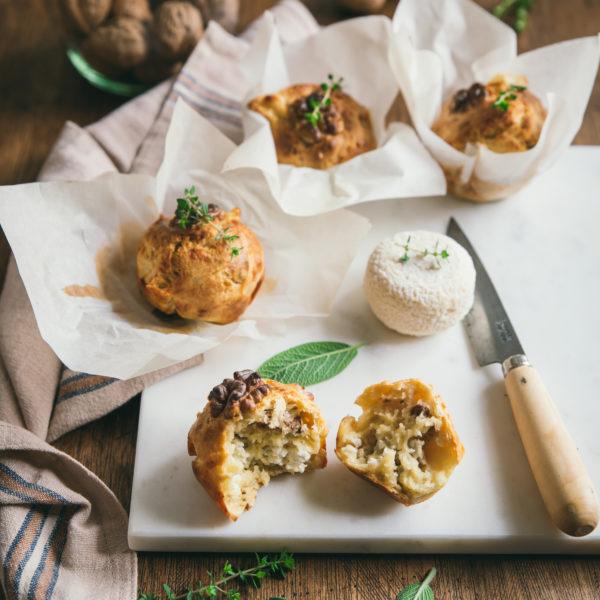 Muffins au fromage de chèvre et noix