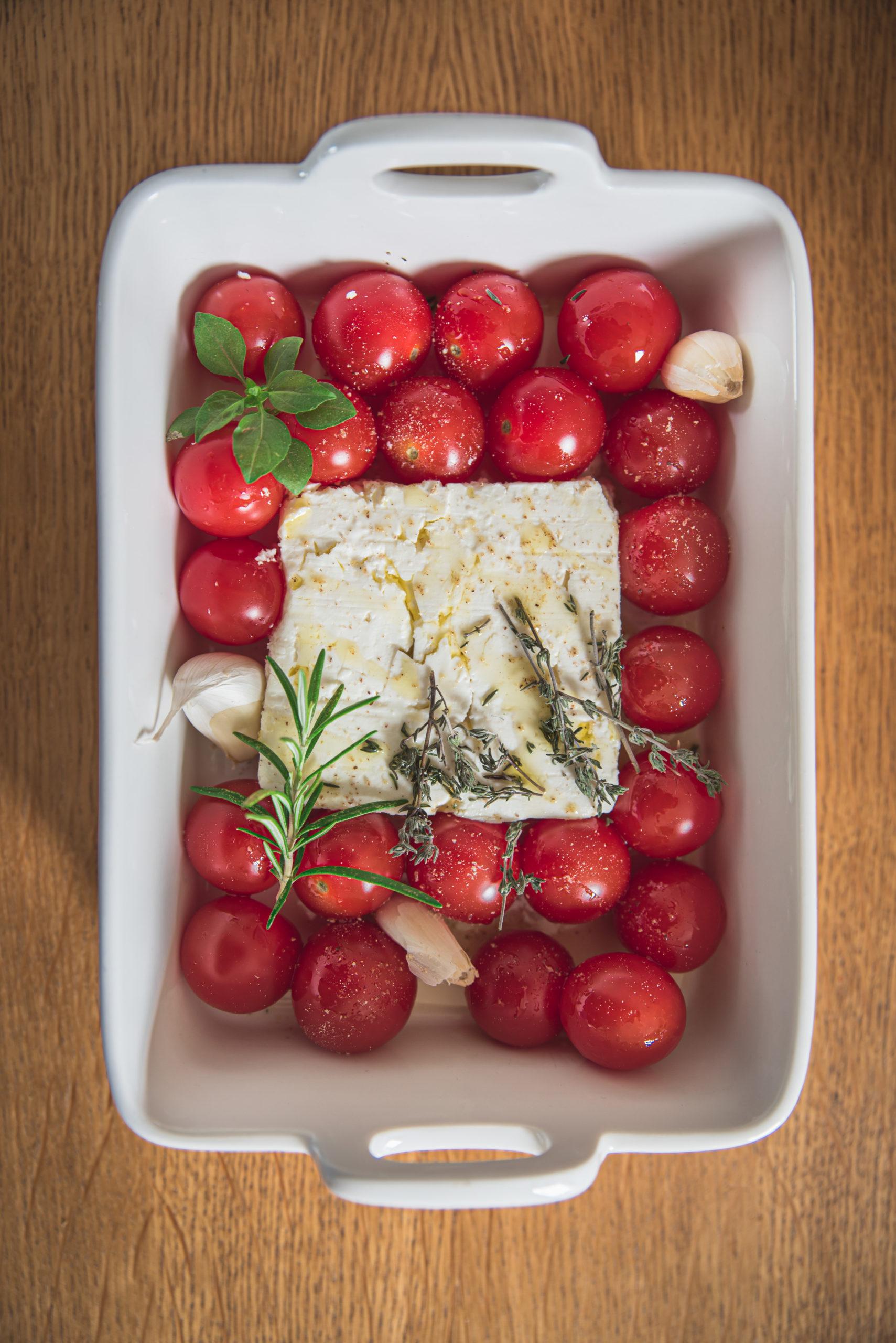 feta et tomate au four