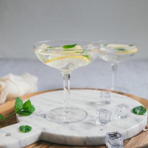 Cocktail au Gin et pétillant à la fleur de sureau