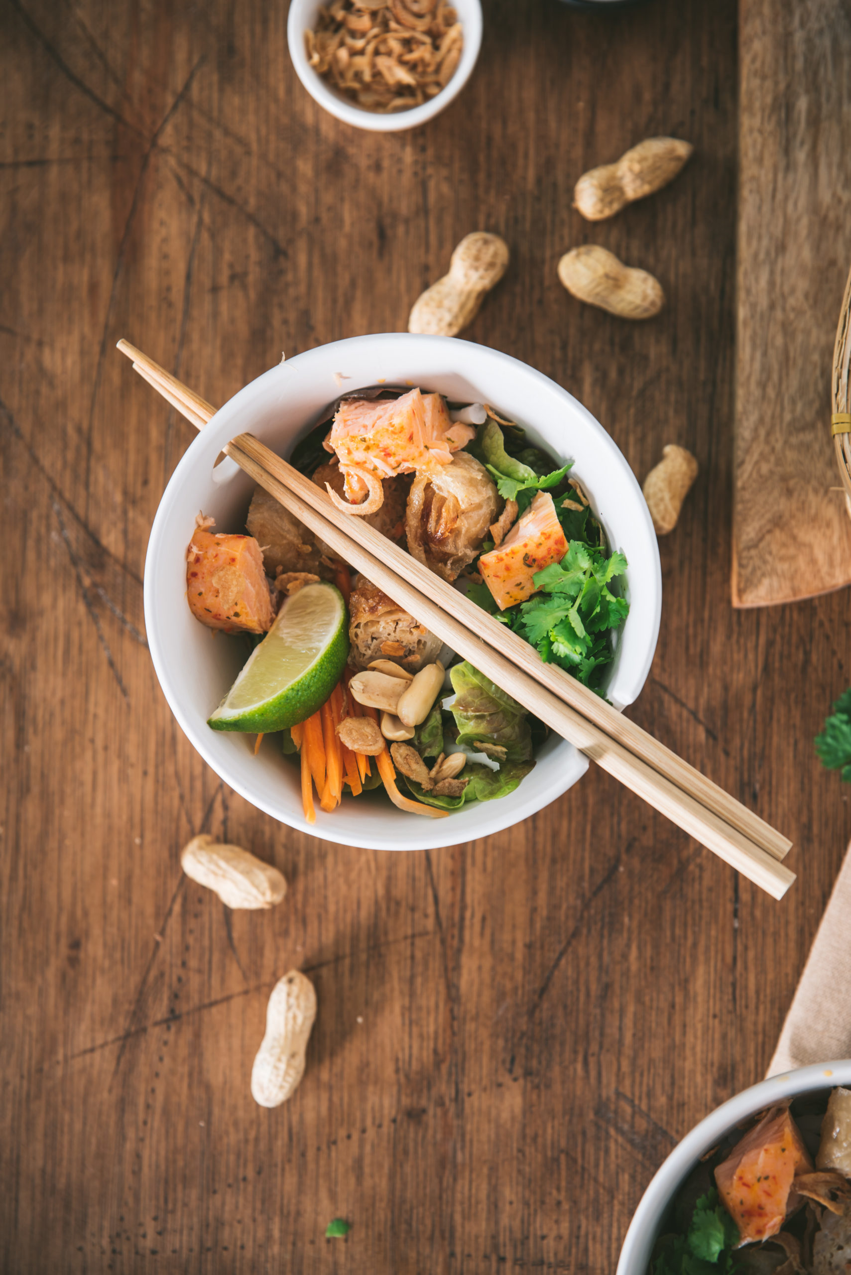Salade Bo Bun poisson