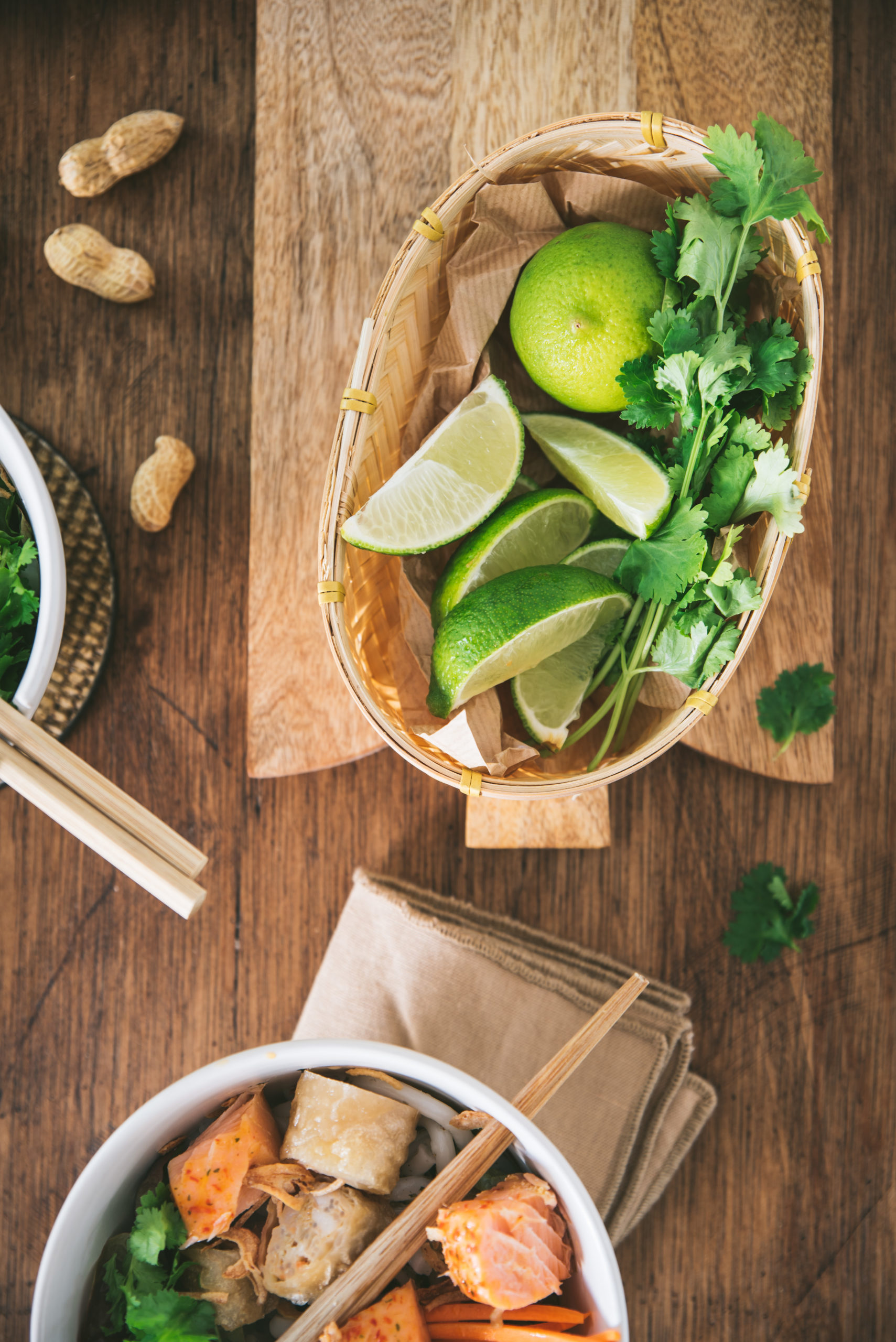 Citron vert et coriandre